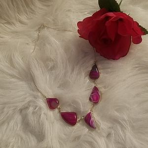 PINK ONYX NECKLACE